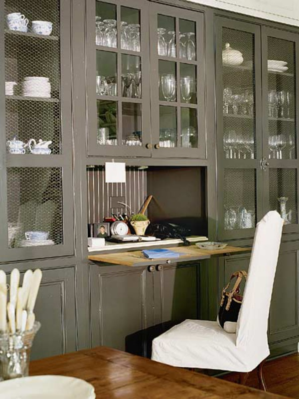 grey-kitchen-desk-Space-Saving-Hideaway-Desks-for-Small-Apartment-Designs