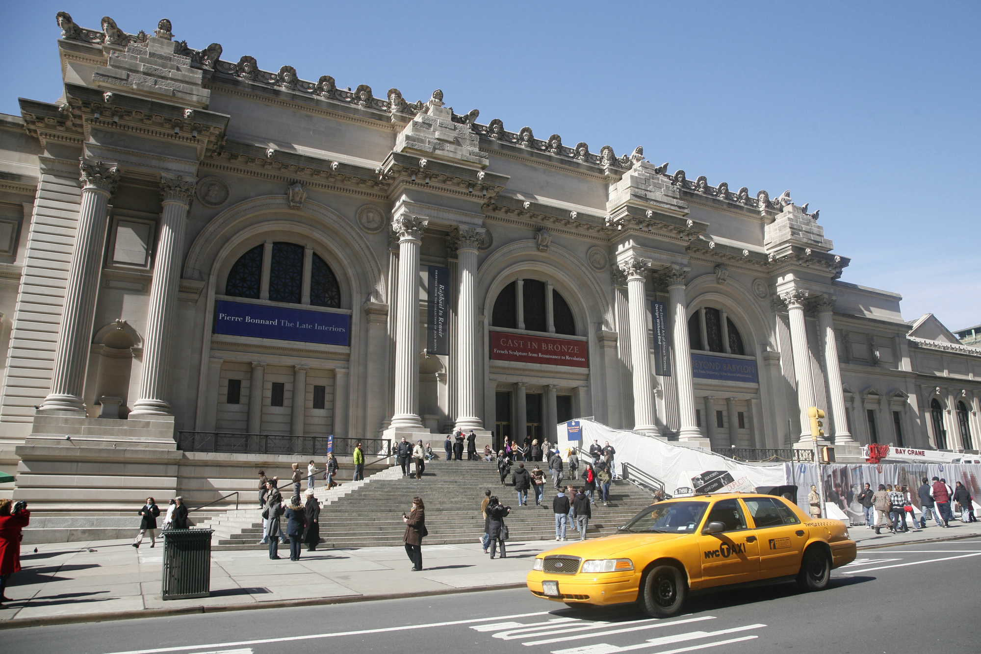 exterior real estate The Metropolitan Museum of Art on Fifth Avenue Friday, March 13, 2009 in New York. The museum suggests a $20 donation, however, visitors may contribute any dollar amount. (N.Y.Post: Chad Rachman)