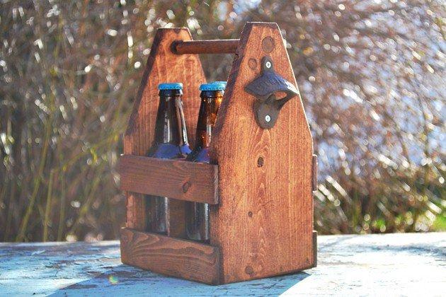 Rustic 4 Pack Beer Tote
