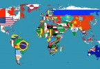 The World Map with Flags