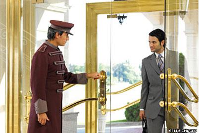 հյուրանոցի դռնապահ