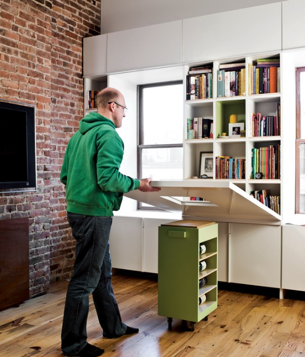 large-folding-down-table-Space-Saving-Hideaway-Desks-for-Small-Apartment-Designs