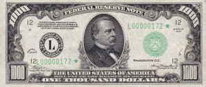 1000_USD_note;_series_of_1934;_obverse